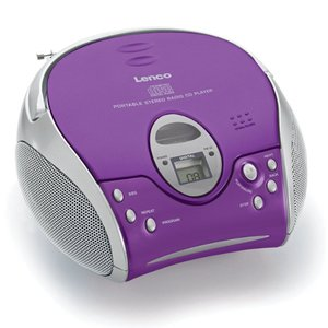 Lenco SCD-24 Draagbare Radio CD-Speler Paars/Zilver