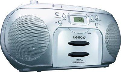 Lenco SCD-420 Draagbare Radio/CD Speler Zilver
