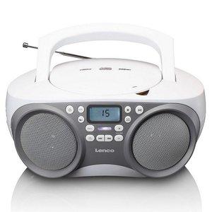 Lenco SCD301 Draagbare Radio CD-Speler met USB-Aansluiting Grijs/Wit
