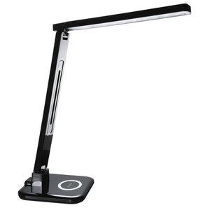 Hama Led-bureaulamp SL 65 QI-lader/4 Lichtmodi/timer Zwart