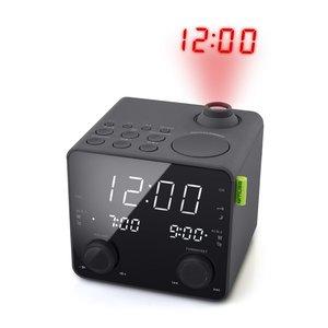 Muse M-189P Wekkerradio met Projectie Zwart