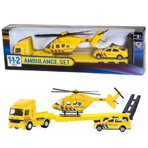 112 Ambulance Set Truck + Auto + Helikopter