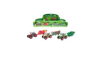 Die Cast Farm Set Tractor met Aanhanger Assorti