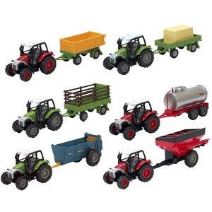 Agri Life 1:43 Tractor + Aanhanger Assorti