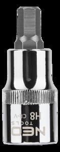 Neo Tools Inbusdop H8 55mm 1/2 Aansluiting S2 Staal TUV M+T