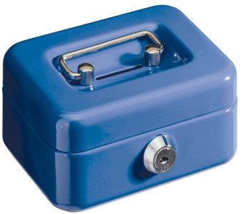 Alco AL-850-15 Geldkistje 125x95x60mm Staal Met Gleuf Donkerblauw